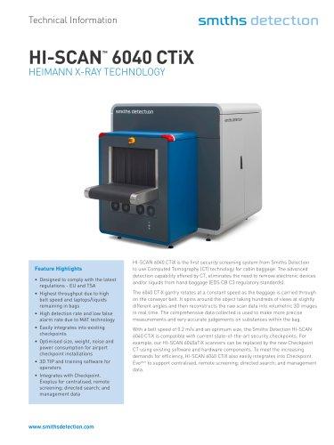 HI-SCAN™ 6040 CTiX