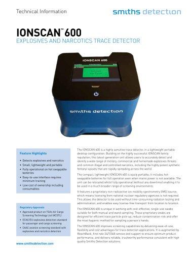 IONSCAN 600 datasheet