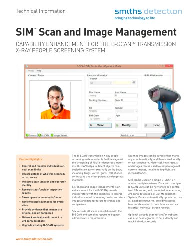 SIM (Scan and Image Management) System