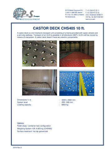 CASTOR DECK CHS405 10 FT.