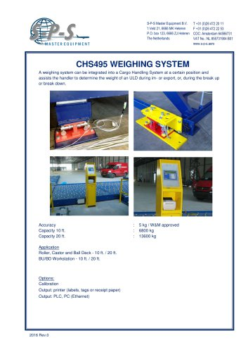 CHS495 WEIGHING SYSTEM