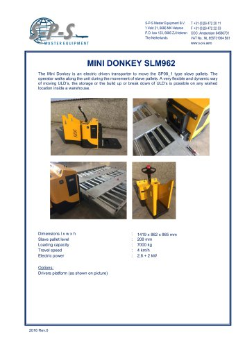 MINI DONKEY SLM962