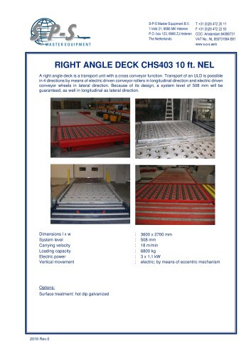 RIGHT ANGLE DECK CHS403 10 FT. NEL