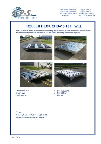ROLLER DECK CHS418 10 FT. WEL