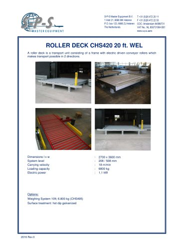 ROLLER DECK CHS420 20 FT. WEL