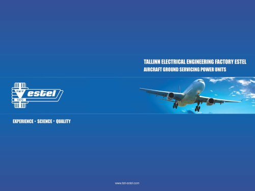 TALLINN ELECTRICAL ENGINEERING FACTORY ESTEL AIRCRAFT GROUND SERVICING POWER UNITS