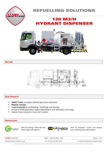 120 m3/H hydrant dispensers