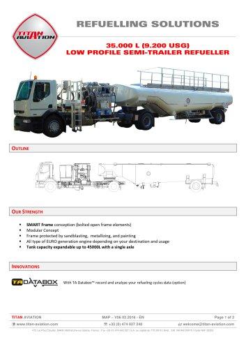 35000 L low profile semi-trailer aircraft refueller