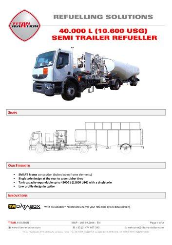 40000 L semi-trailer aircraft refueller