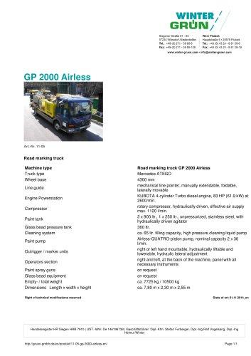 GP 2000 Airless