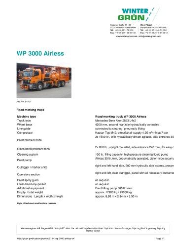 WP 3000 Airless