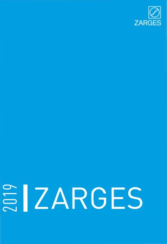 2019 ZARGES Main Catalogue