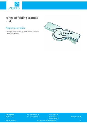 Hinge of folding scaffold unit