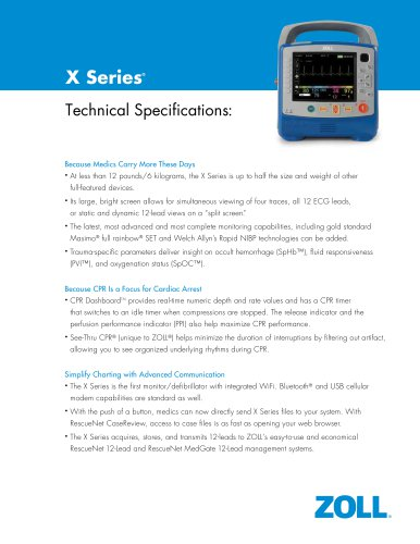 X Series Spec Sheet