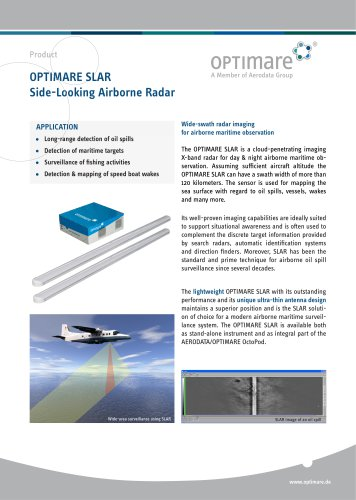 OPTIMARE SLAR Side-Looking Airborne Radar