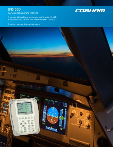 IFR4000 Portable Nav/Comm Test Set