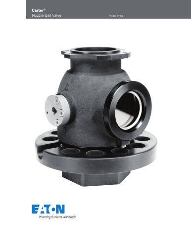 Carter ® Nozzle Ball Valve