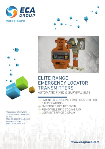 ELITE RANGE EMERGENCY LOCATOR TRANSMITTERS