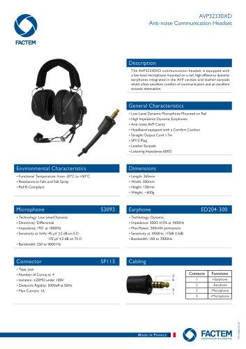 AVP32330XD Anti-noise Communication Headset