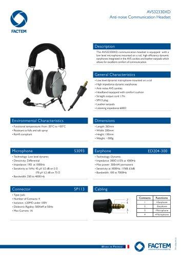 AVS32330XD Anti-noise Communication Headset
