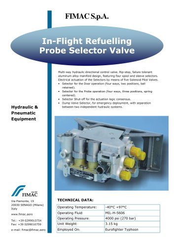 In-Flight Refuelling Probe Selector Valve