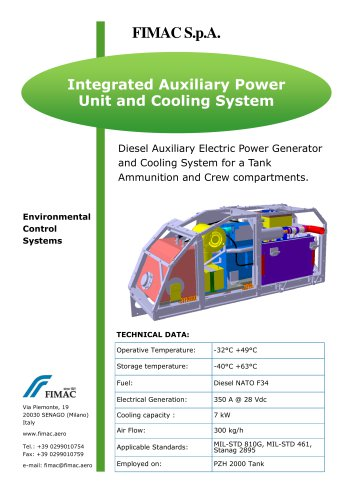Integrated Auxiliary Power Unit and Cooling System