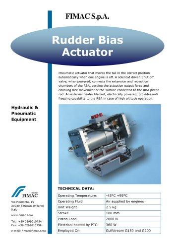 Rudder Bias Actuator