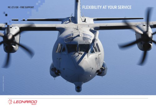 MC-27J ISR - FIRE SUPPORT FLEXIBILITY AT YOUR SERVICE