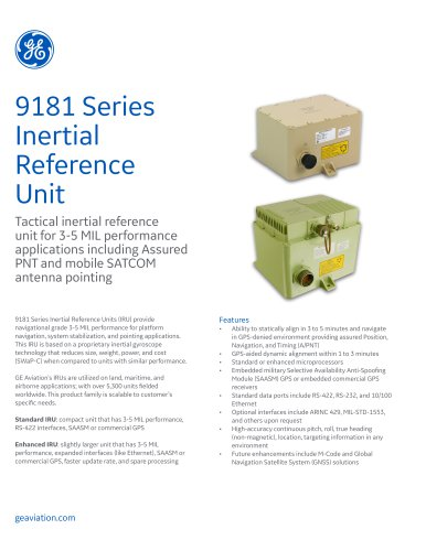 9181 Series Inertial Reference Unit