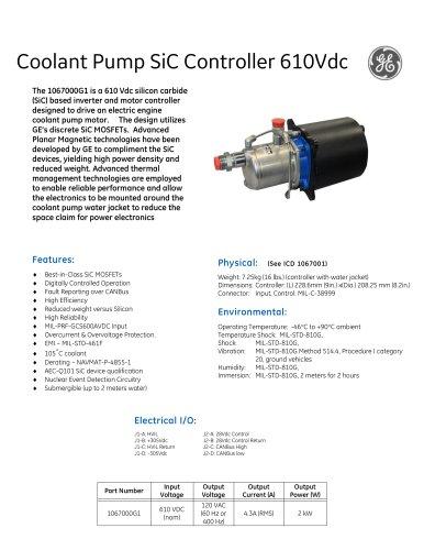 Coolant Pump SiC Controller 610Vdc