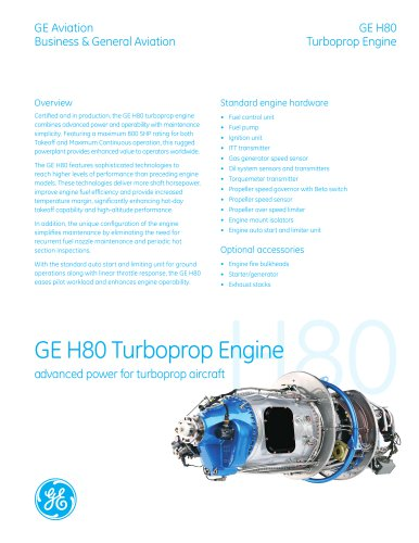 GE H80 Turboprop Engine