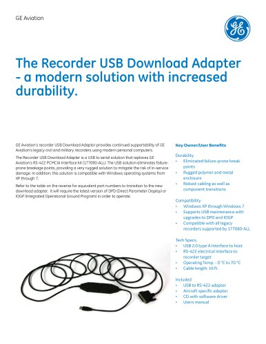 The Recorder USB Download Adapter