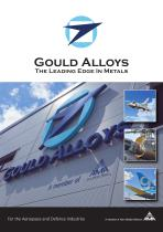 GOULD ALLOYS For the Aerospace and Defence Industries