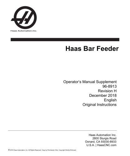 Haas Bar Feeder