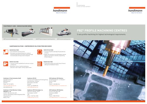 PBZ product line brochure