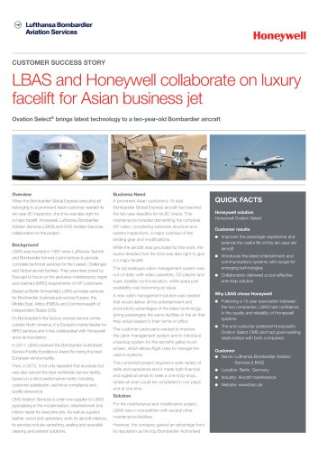 LBAS and Honeywell collaborate on luxury facelift for Asian business jet
