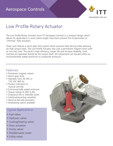 Low Profile Rotary Actuator
