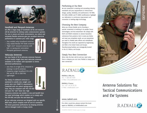 Antenna Solutions for Tactical Communications and EW Systems