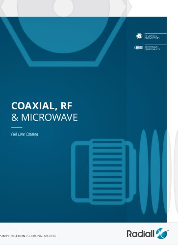 COAXIAL, RF & MICROWAVE
