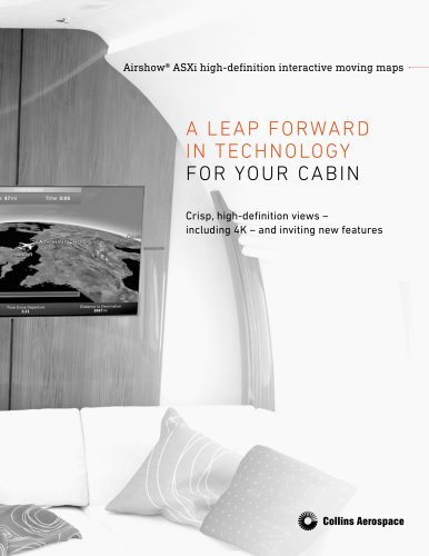 Airshow® ASXi high-definition interactive moving maps