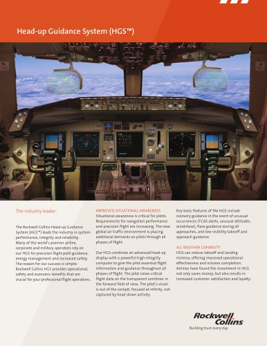 Head-up Guidance System (HGS™)
