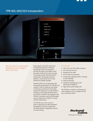 TPR-901-205/225 transponders