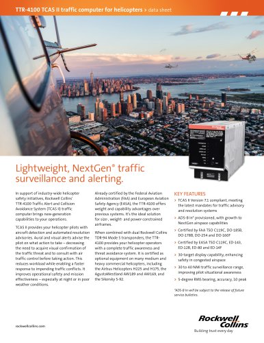 TTR-4100 TCAS II traffic computer for helicopters