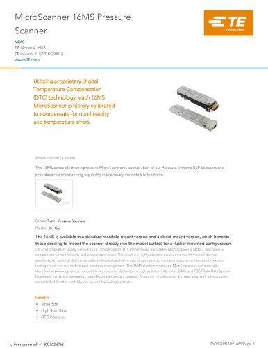 MicroScanner 16MS Pressure Scanner