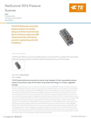 NetScanner 9216 Pressure Scanner