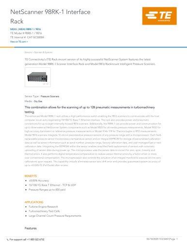 NetScanner 98RK-1 Interface Rack