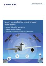 Thales:Simply connected for critical mission optimization