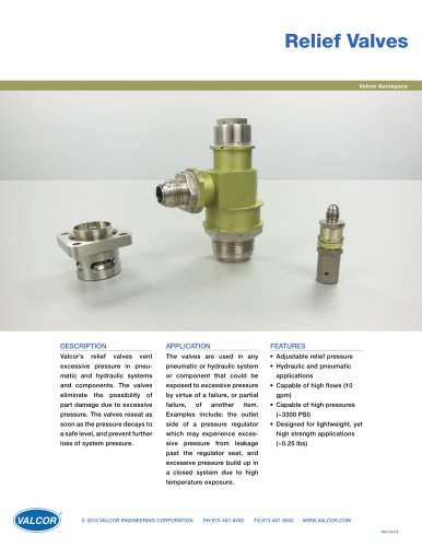 Aircraft Relief Valves