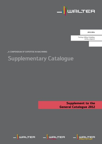 Supplement to the General Catalogue 2012