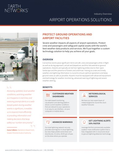 PROTECT GROUND OPERATIONS AND AIRPORT FACILITIES